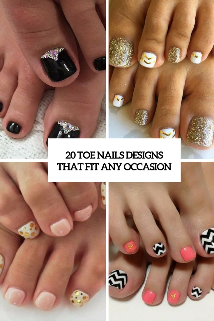 20 Toe Nails Designs That Fit Any Occasion