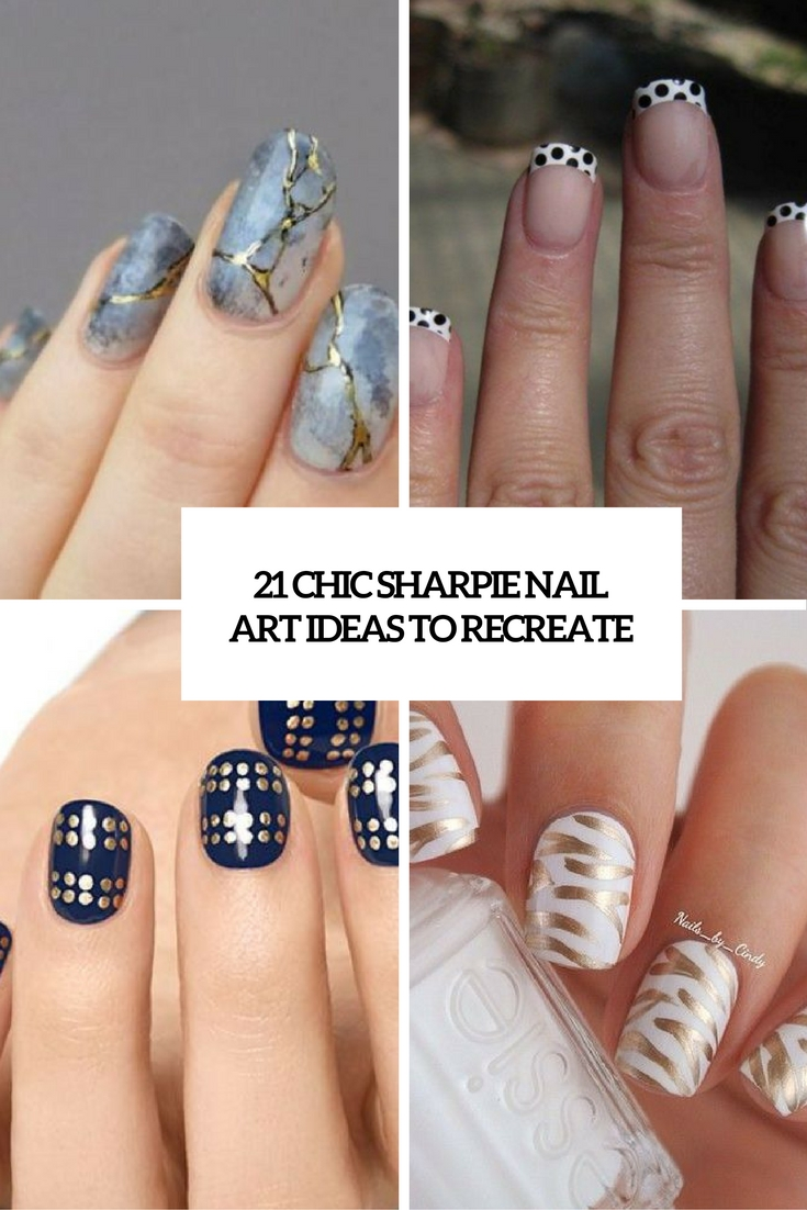 21 Chic Sharpie Nail Art Ideas To Recreate