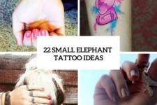 22 Amazing Small Elephant Tattoo Ideas