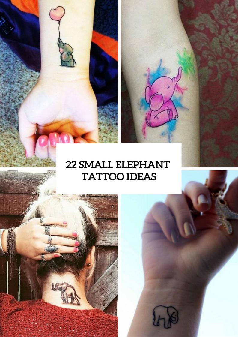 Amazing Small Elephant Tattoo Ideas