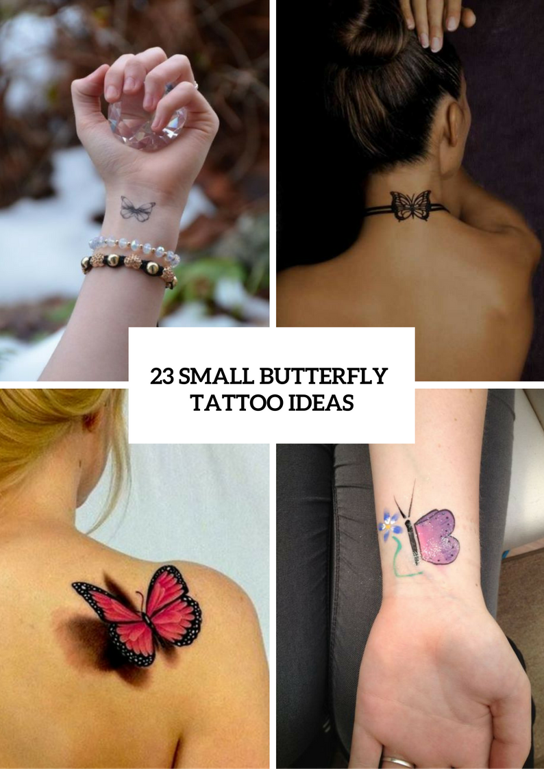 Adorable Small Butterfly Tattoo Ideas For Women