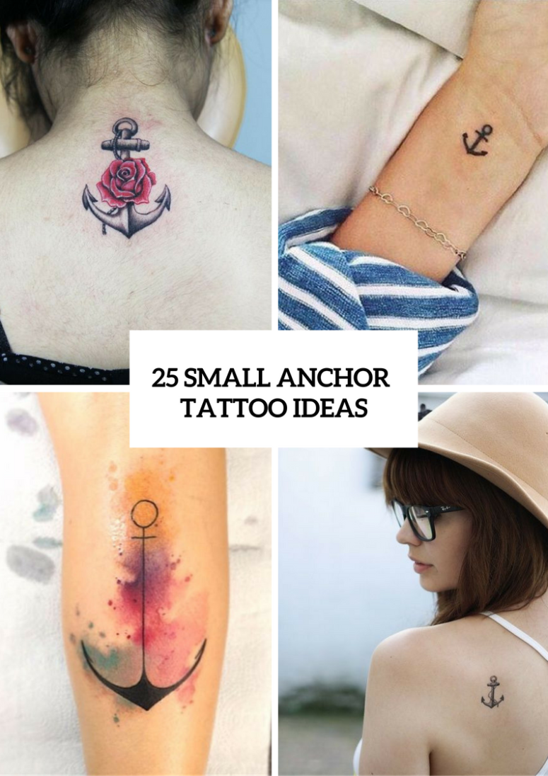 25 Excellent Small Anchor Tattoo Ideas For Women