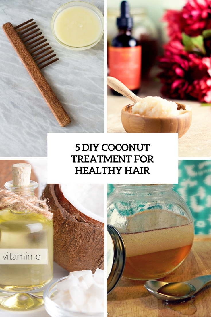 5 DIY Coconut Treatments For Healthy Hair