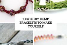 7 cute diy hemp bracelets to make yourself cover