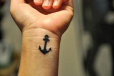 Anchor on the left wrist