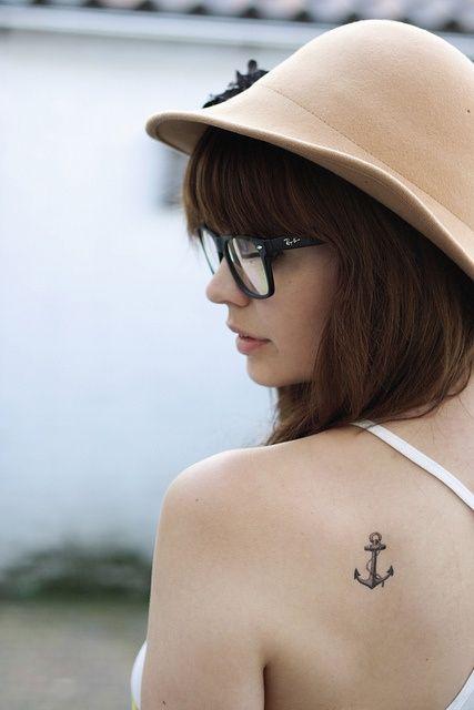 Anchor on the shoulder blade