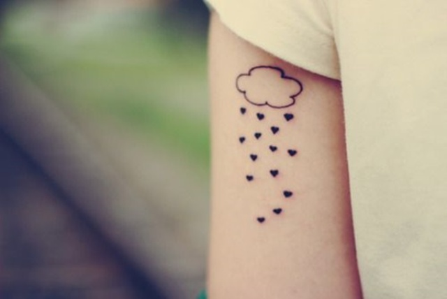 Art heart tattoo idea