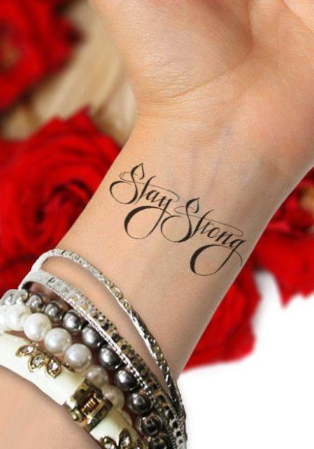 Black word tattoo