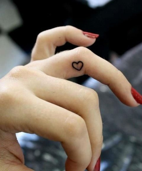 Classic heart tattoo