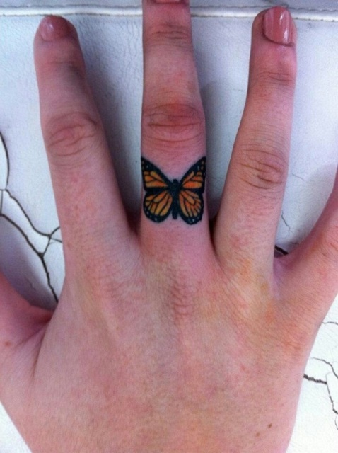 Cute butterfly tattoo