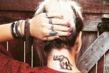 Elephant on the neck