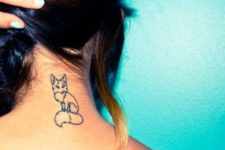 Fox silhouette tattoo