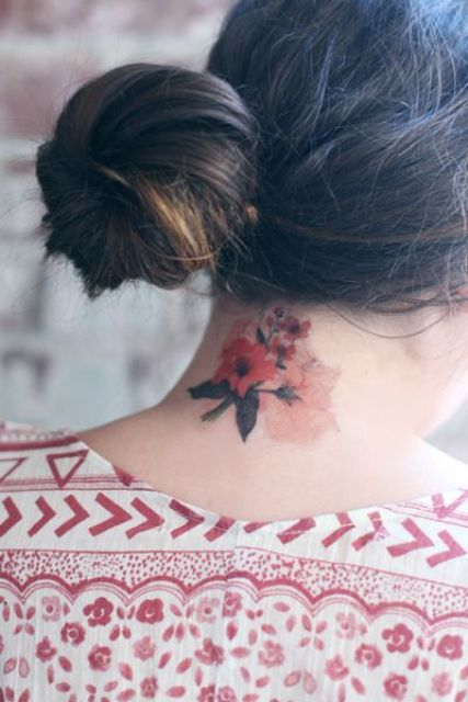 Gorgeous flowers tattoo