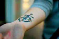 Green, orange and yellow tattoo idea