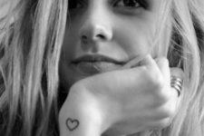 Heart tattoo on the wrist