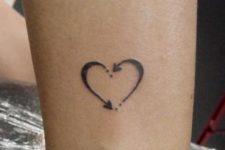 Original tattoo on the leg