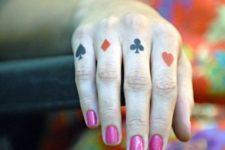 Poker card symbols tattoo