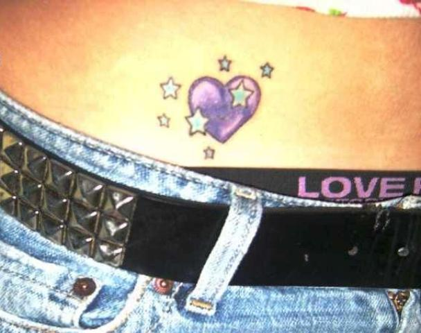 Purple heart on the stomach