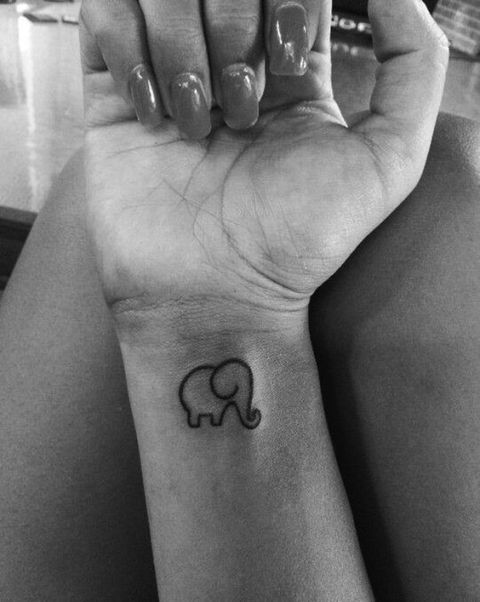 Silhouette tattoo on the wrist