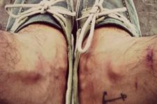 Simple tattoo on right ankle