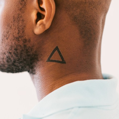 Simple triangle tattoo design