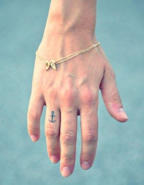 Small anchor on the finger