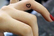 Tiny heart on the finger