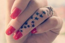 tiny finger tattoos