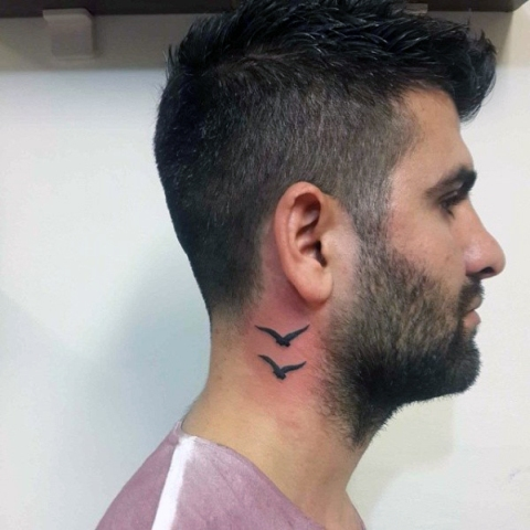 24 Excellent Small Neck Tattoos For Guys Styleoholic