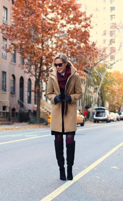 camel coat look
