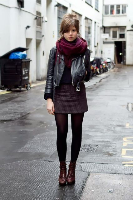 24 Outfits With Marsala Scarves For Ladies