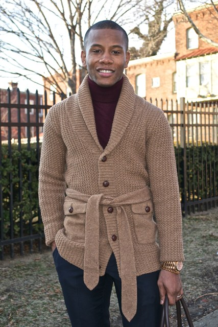 23 Men Outfits With Shawl Collar Sweaters And Cardigans
