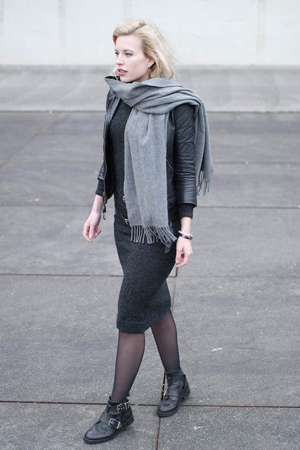 23 Awesome Outfits With Gray Scarves Styleoholic