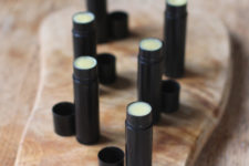DIY chocolate lip balm