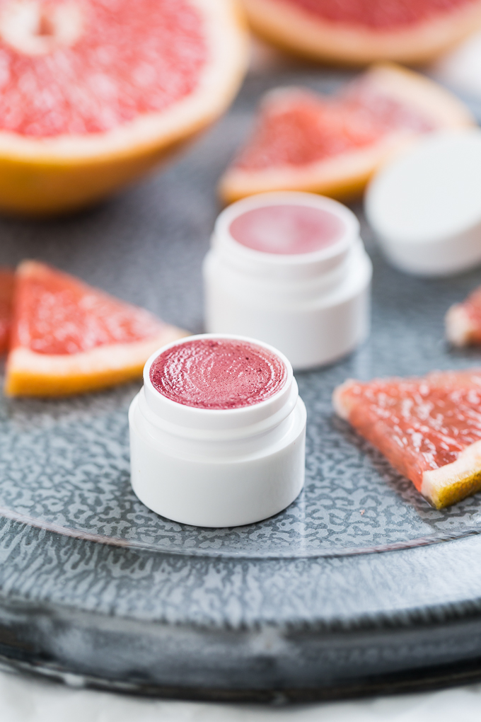 DIY pink grapefruit lip balm