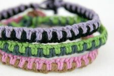 DIY macrame hemp bracelets