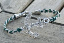 DIY nautical anchor hemp bracelet