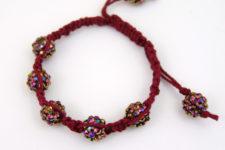 DIY Shamballa hemp bracelet