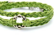 DIY easy woven wrap bracelet with a bead