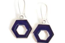 DIY geometric resin earrings