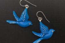 DIY birds in flight resin earrings