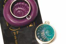 DIY sculpted resin shell pendants