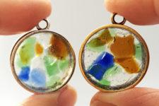 DIY sea glass resin pendants