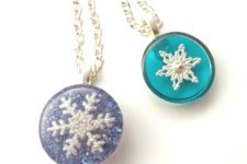 DIY snowflake resin jewelry
