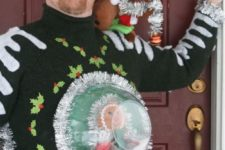 snow globe sweater looks very crazy