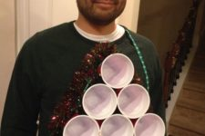 ugly sweater with beer pong style