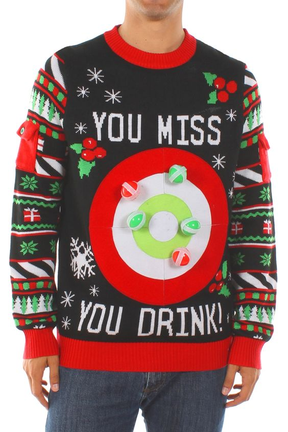 ugly sweater with velcro balls