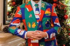 why wear an ugly sweater, when you can rock an ugly suit