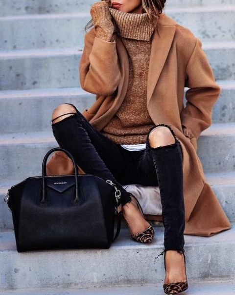 98e3365e321 23 Stylish Ripped Jeans Outfits For Winter – OBSiGeN