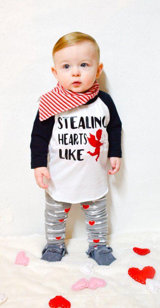baby boy printed sweatshirt, leggings and a scarf